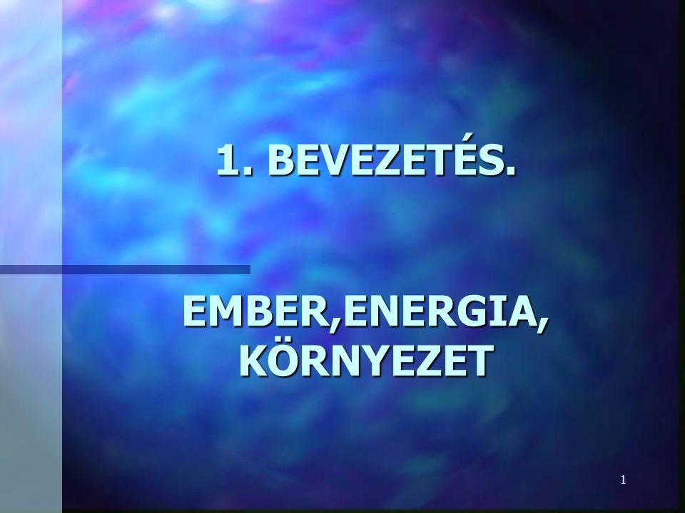 1 1. BEVEZETÉS. EMBER,ENERGIA, KÖRNYEZET