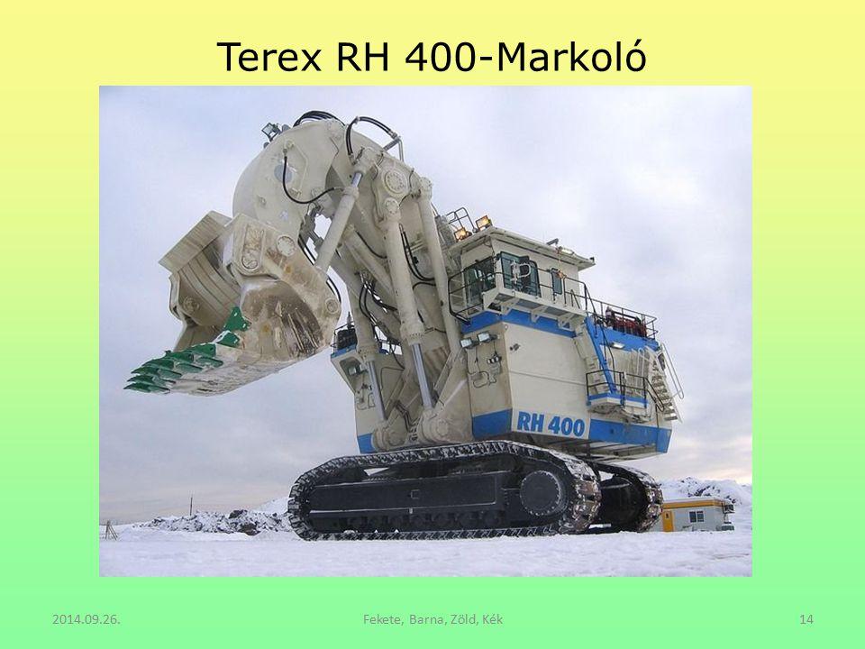 Terex RH 400-Markoló 2014.09.26.Fekete, Barna, Zöld, Kék14