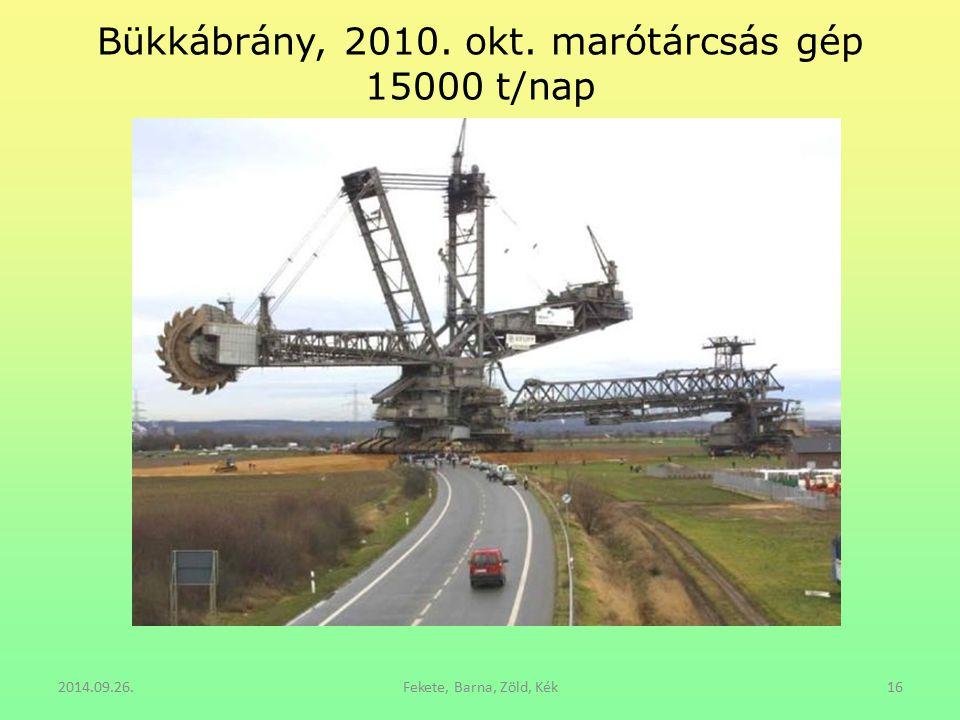 Bükkábrány, 2010. okt. marótárcsás gép 15000 t/nap 2014.09.26.Fekete, Barna, Zöld, Kék16
