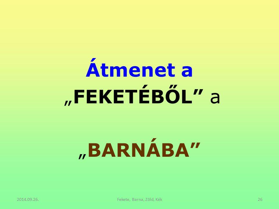 """Átmenet a """"FEKETÉBŐL"""" a """"BARNÁBA"""" 2014.09.26.Fekete, Barna, Zöld, Kék26"""