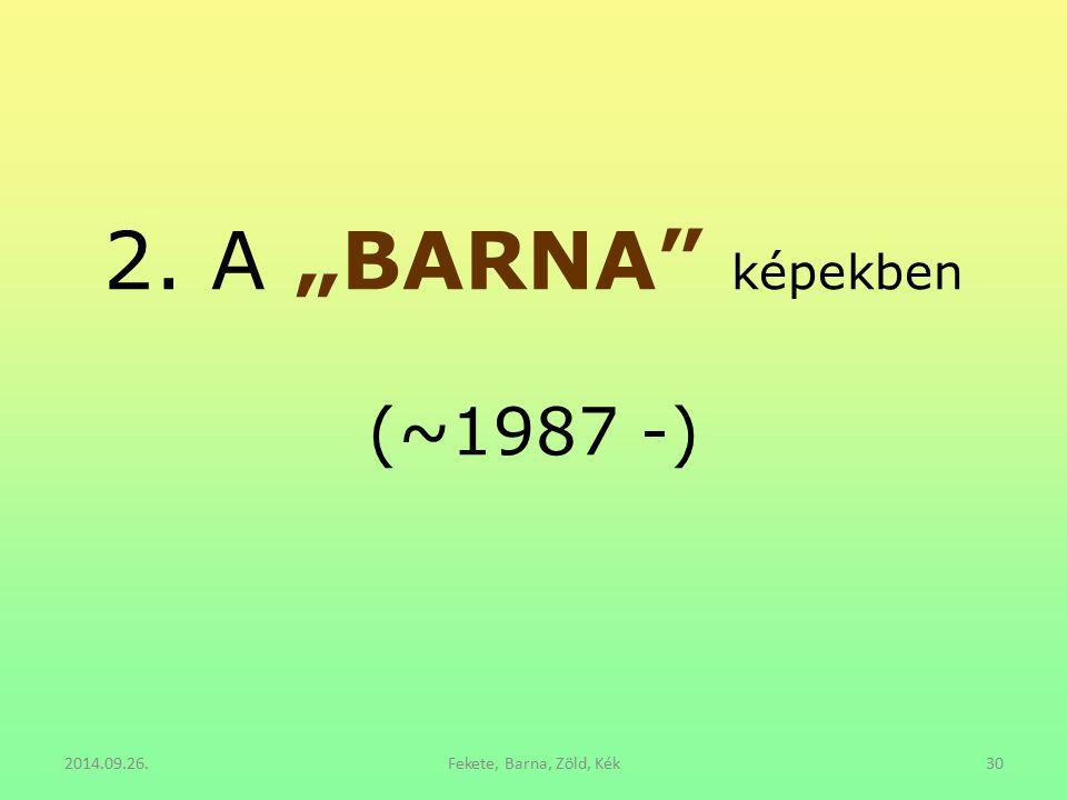 """2. A """"BARNA"""" képekben (~1987 -) 2014.09.26.Fekete, Barna, Zöld, Kék30"""