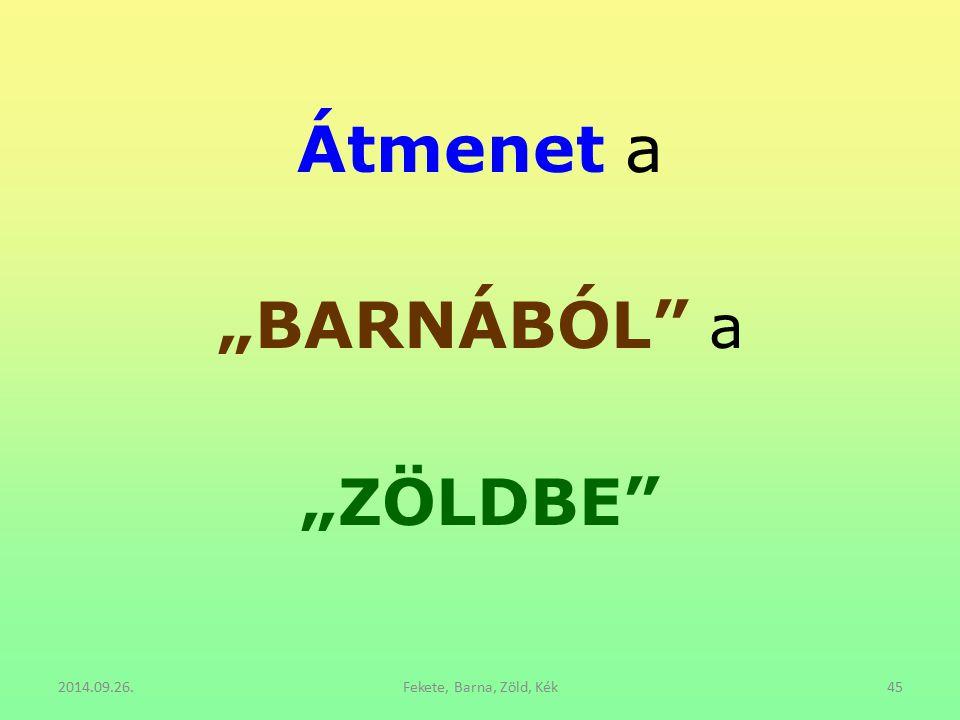"""Átmenet a """"BARNÁBÓL"""" a """"ZÖLDBE"""" 2014.09.26.Fekete, Barna, Zöld, Kék45"""
