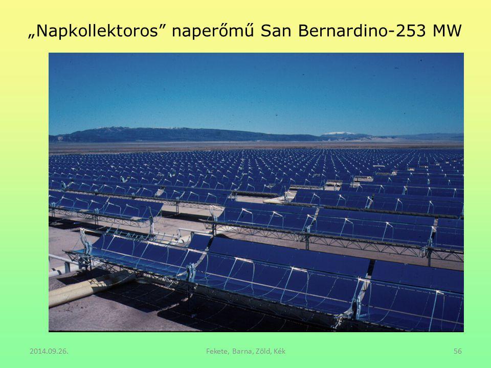 """Napkollektoros"" naperőmű San Bernardino-253 MW 2014.09.26.Fekete, Barna, Zöld, Kék56"
