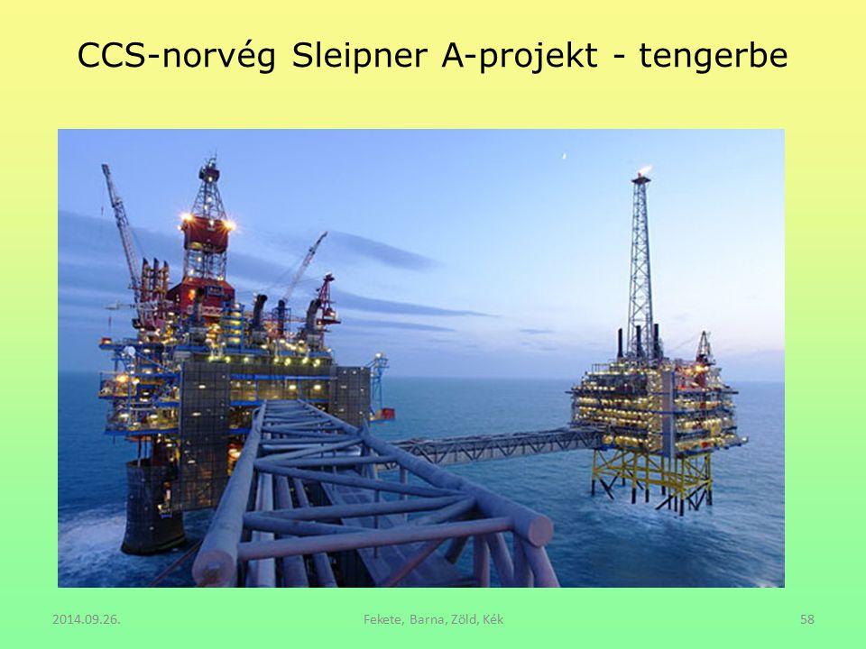 CCS-norvég Sleipner A-projekt - tengerbe 2014.09.26.Fekete, Barna, Zöld, Kék58