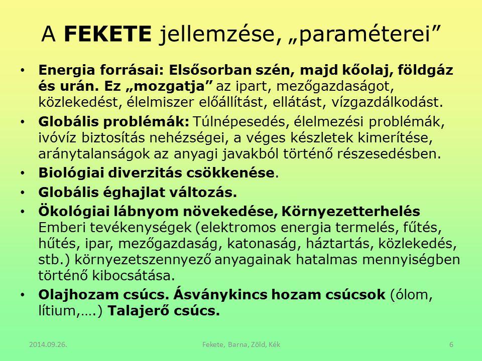 """Néhány """"paraméter a KÉKRE -3 Ökoszociális piacgazdaság."""