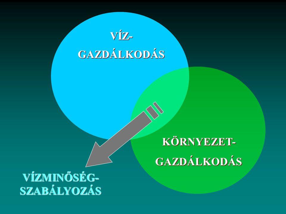VÍZ-GAZDÁLKODÁS KÖRNYEZET-GAZDÁLKODÁS VÍZMINŐSÉG- SZABÁLYOZÁS