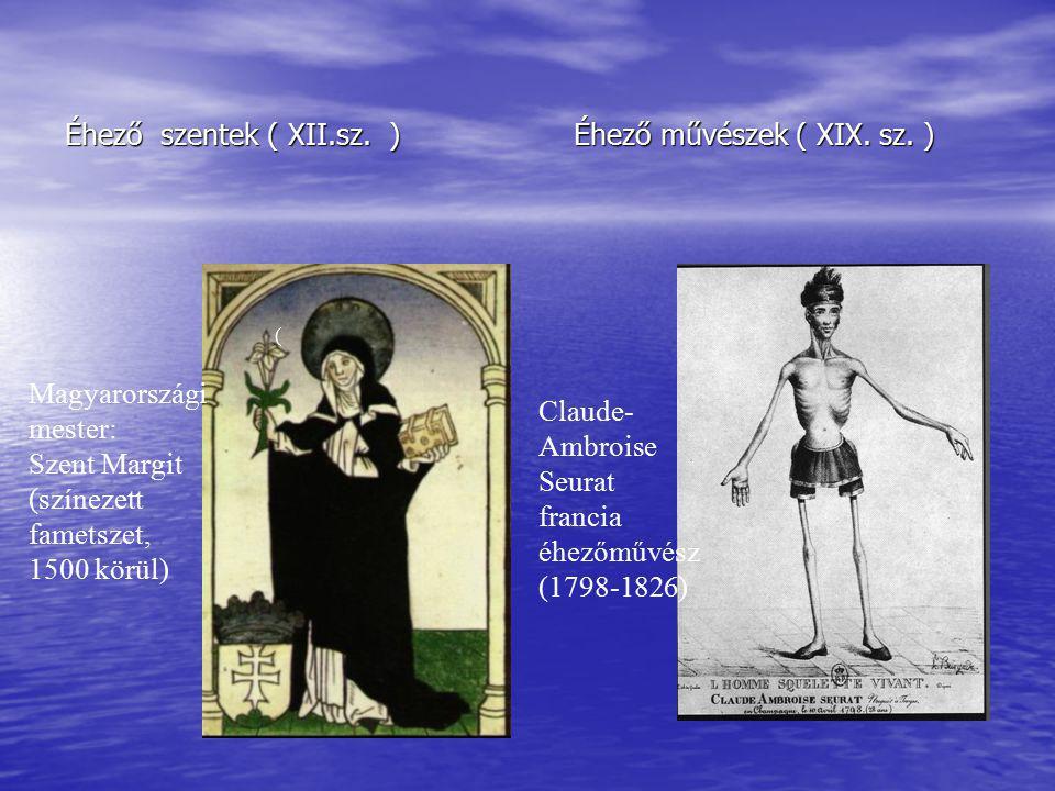 Éhező szentek ( XII.sz.) Éhező művészek ( XIX. sz.
