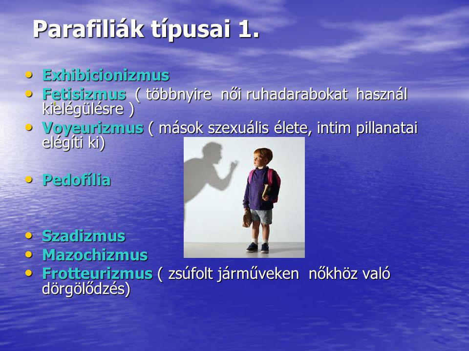 Parafiliák típusai 1.