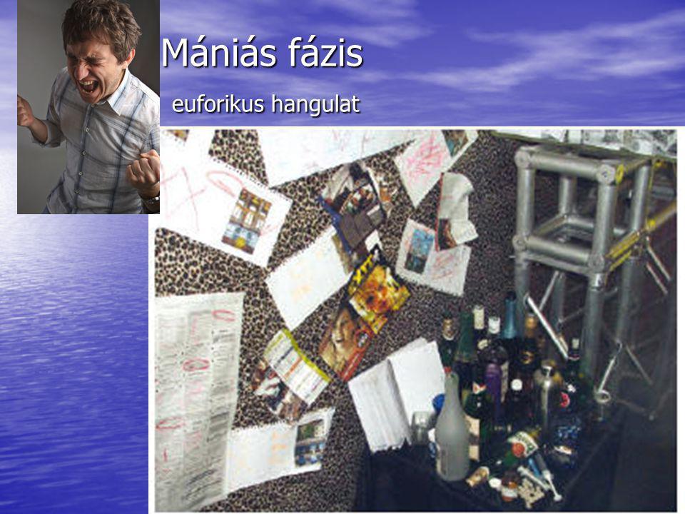 Mániás fázis euforikus hangulat Mániás fázis euforikus hangulat