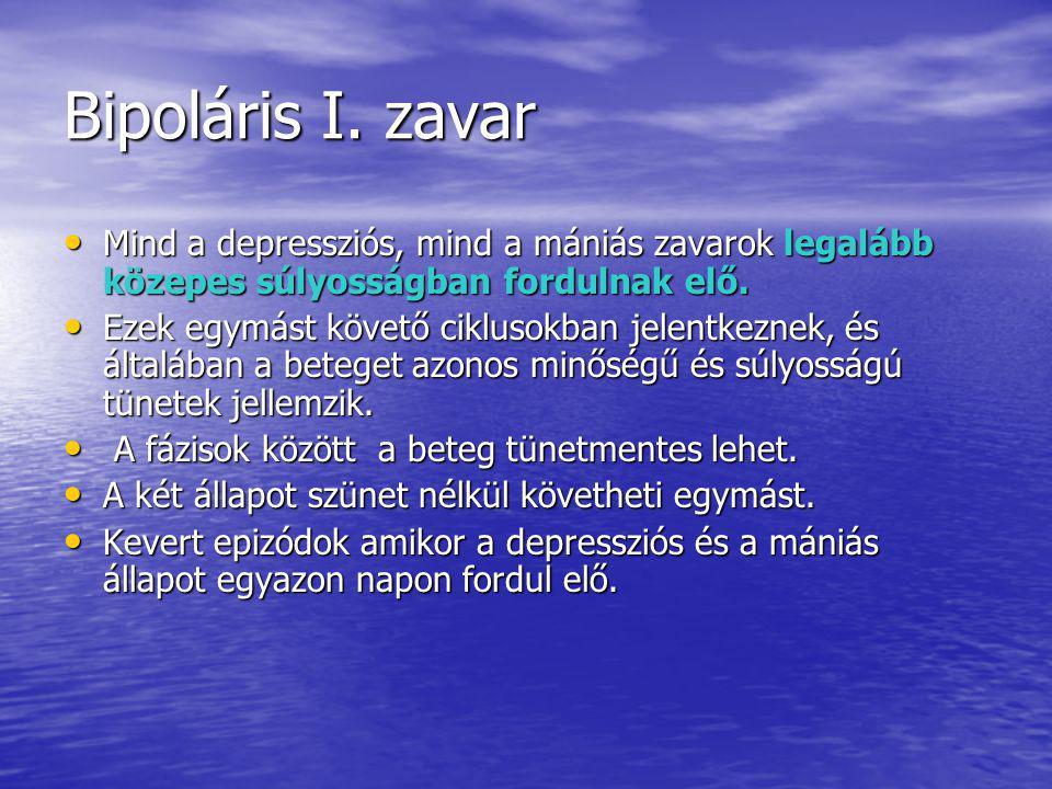 Bipoláris I.