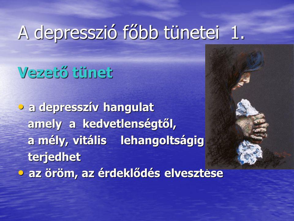 A depresszió főbb tünetei 1.