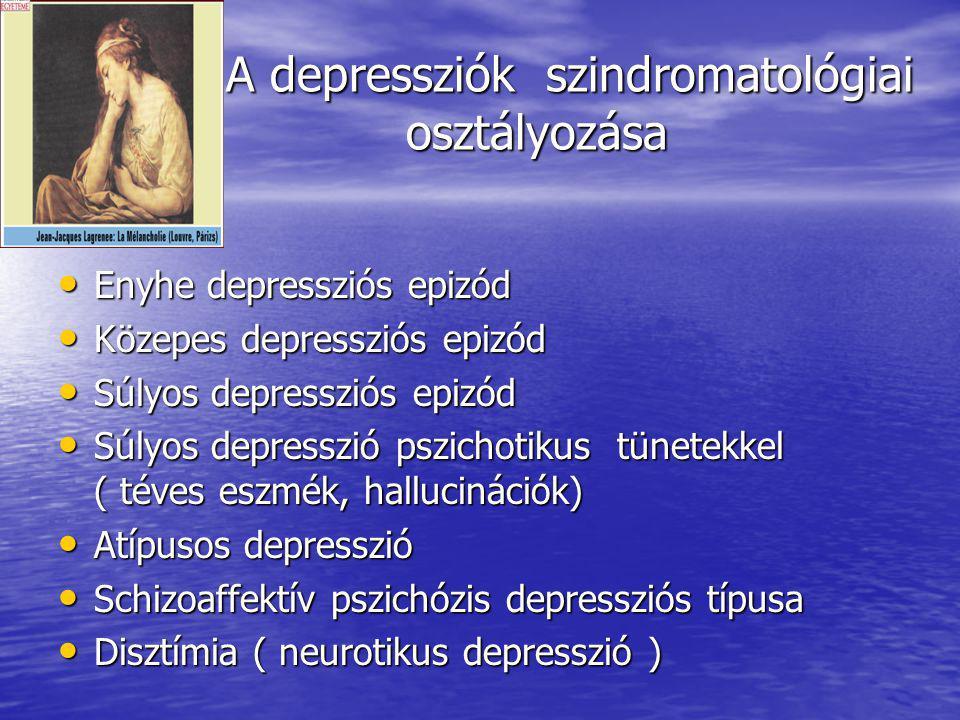 A depresszió A depresszió