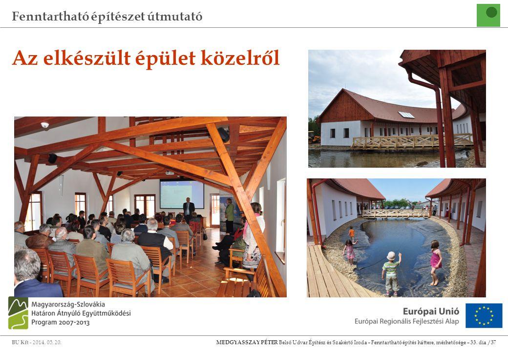 Fenntartható építészet útmutató BU Kft - 2014. 05. 20. MEDGYASSZAY PÉTER Belső Udvar Építész és Szakértő Iroda – Fenntartható építés háttere, mérhetős