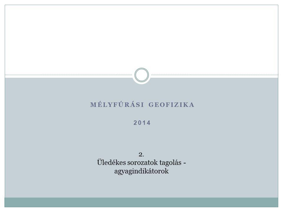 MÉLYFÚRÁSI GEOFIZIKA 2014 2. Üledékes sorozatok tagolás - agyagindikátorok