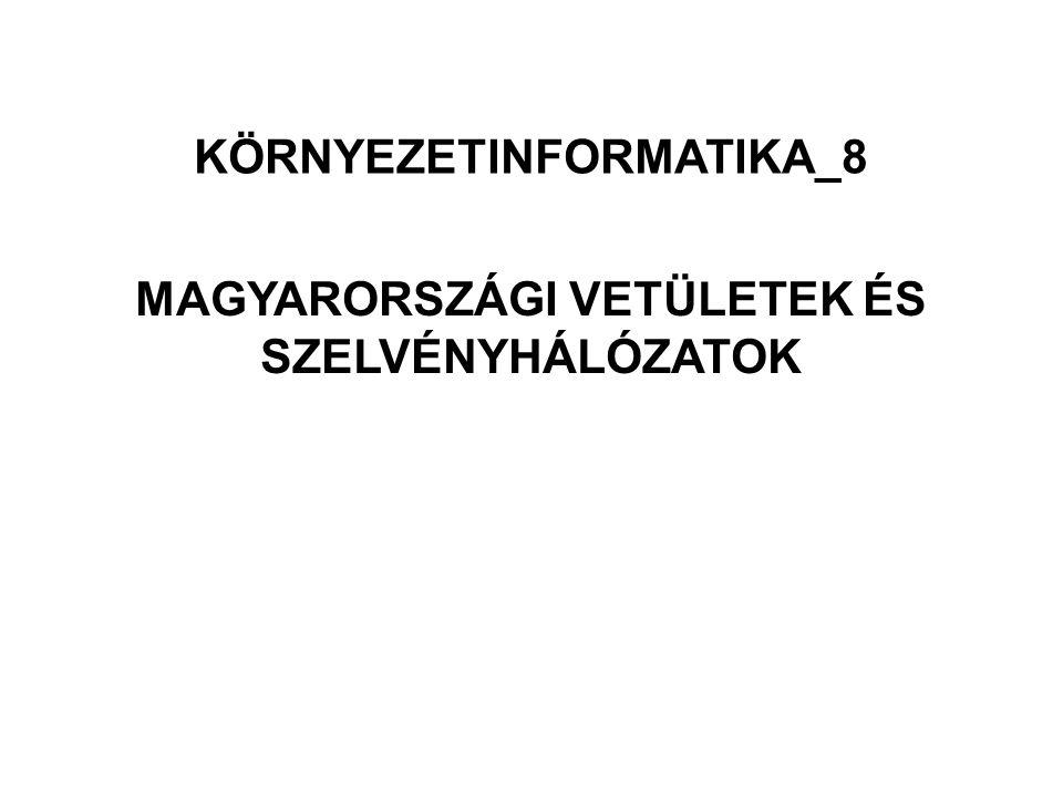 MAGYARORSZÁGI VETÜLETEK ÉS SZELVÉNYHÁLÓZATOK KÖRNYEZETINFORMATIKA_8