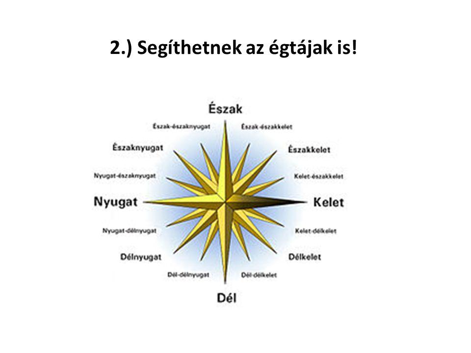 2.) Segíthetnek az égtájak is!