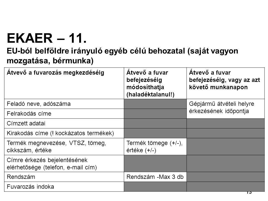 13 EKAER – 11.