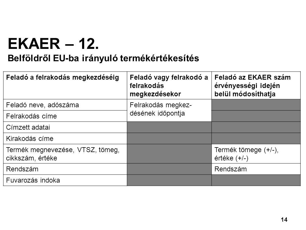 14 EKAER – 12.
