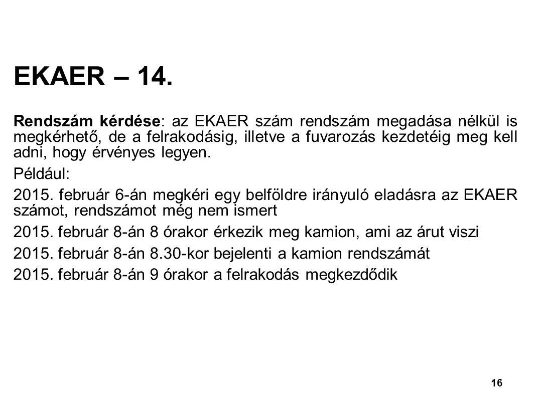 16 EKAER – 14.