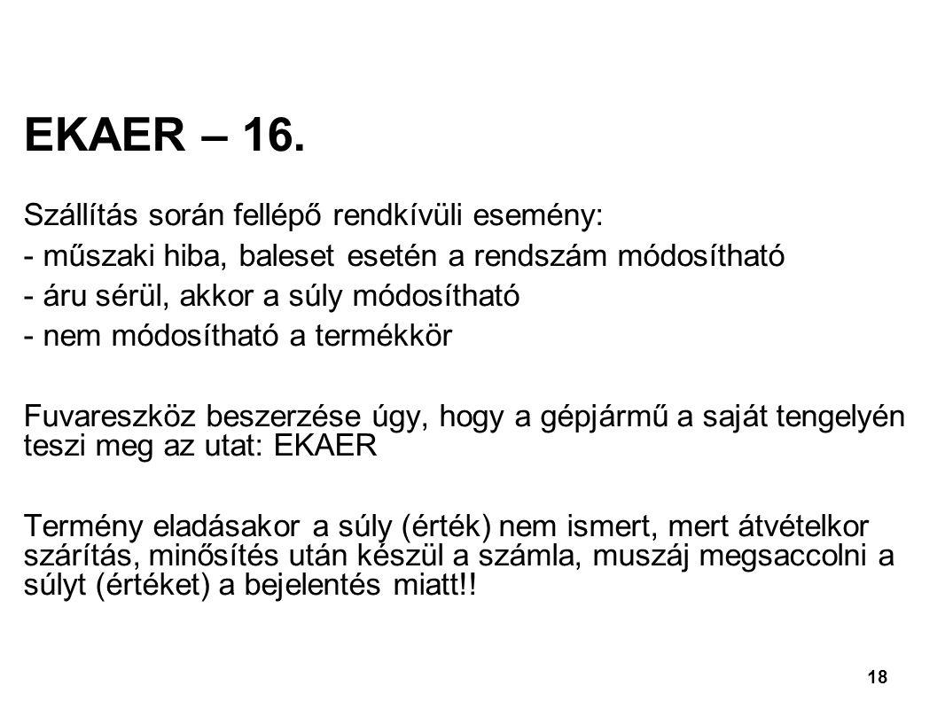 18 EKAER – 16.