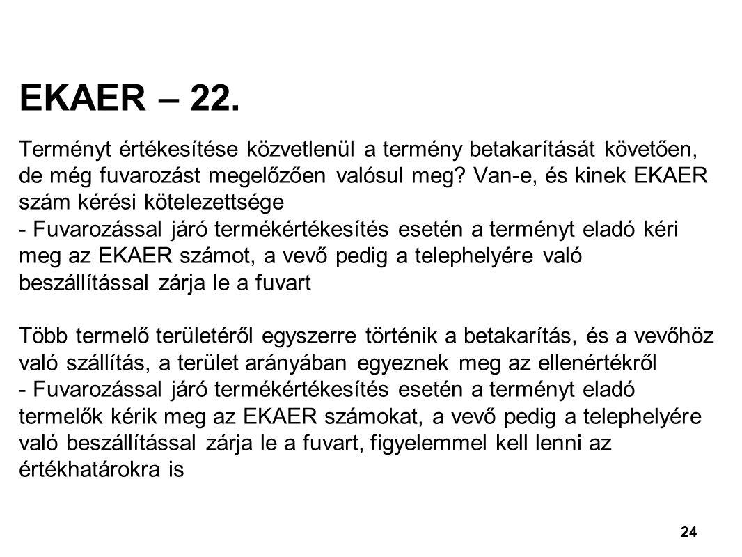 24 EKAER – 22.