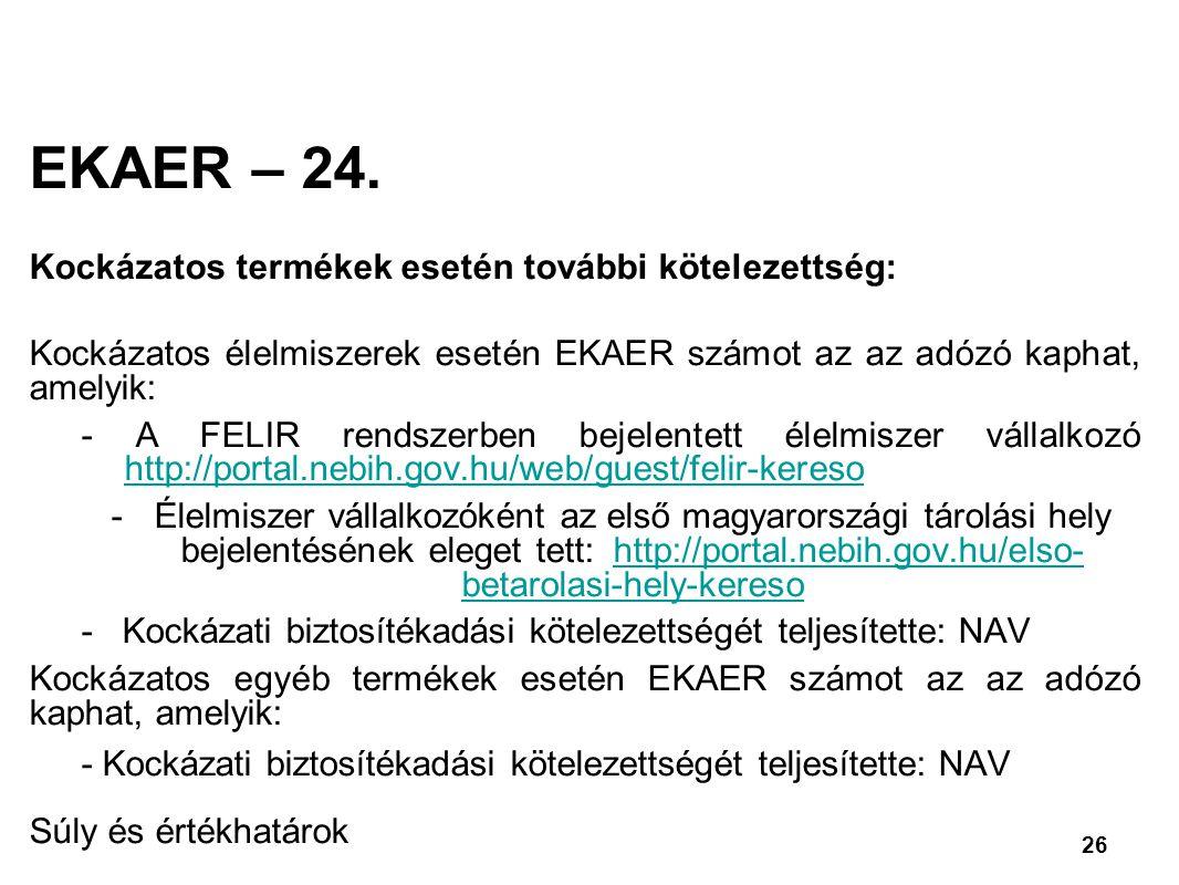 26 EKAER – 24.