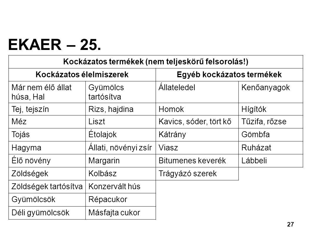 27 EKAER – 25.