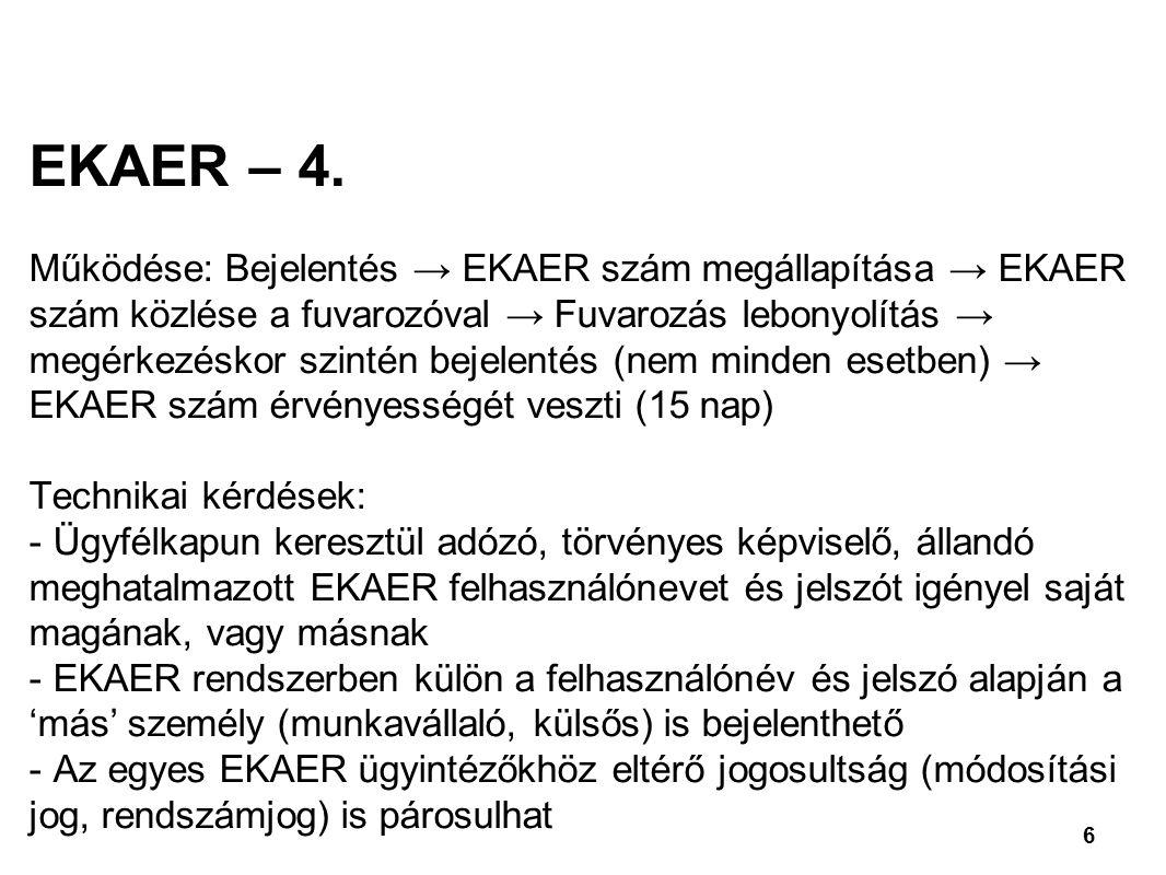 6 EKAER – 4.