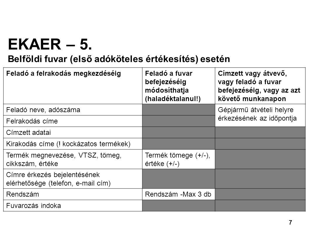 7 EKAER – 5.