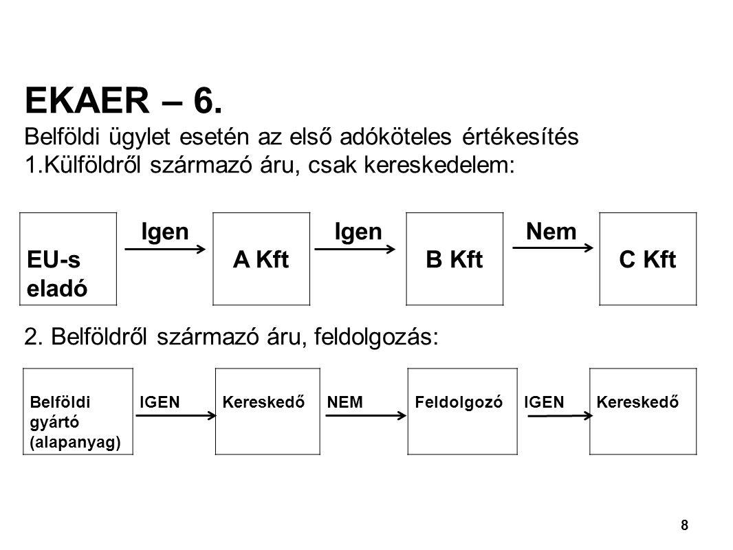 8 EKAER – 6.
