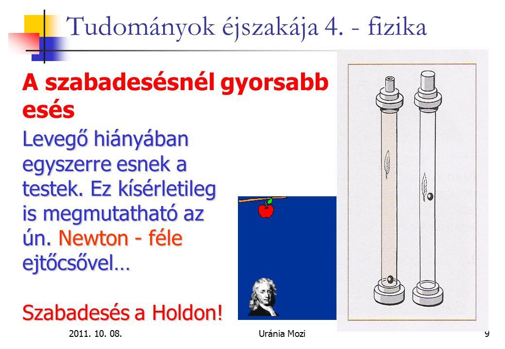 """2011. 10. 08.Uránia Mozi40 Tudományok éjszakája 4. - fizika Mágneses """"örökmozgó működése:"""