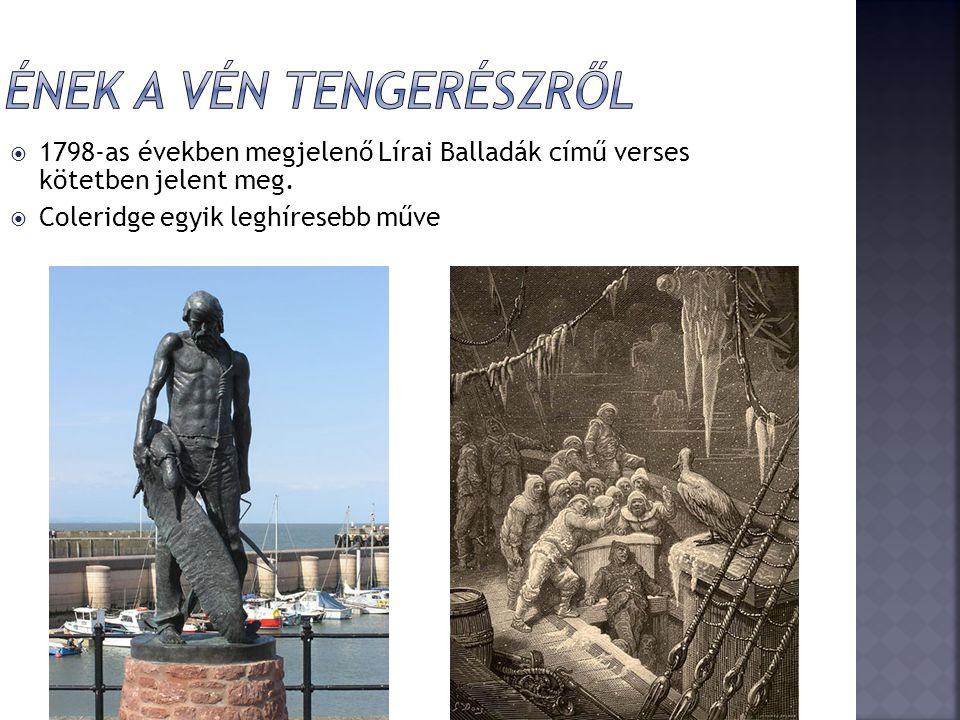  1798-as években megjelenő Lírai Balladák című verses kötetben jelent meg.