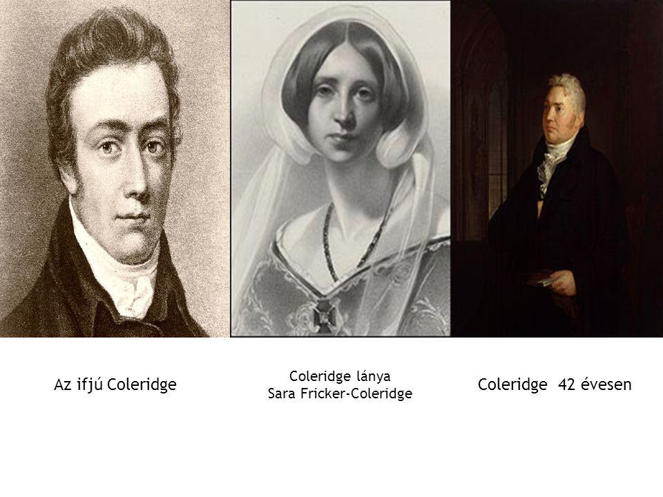 Coleridge lánya Sara Fricker-Coleridge Az ifjú ColeridgeColeridge 42 évesen