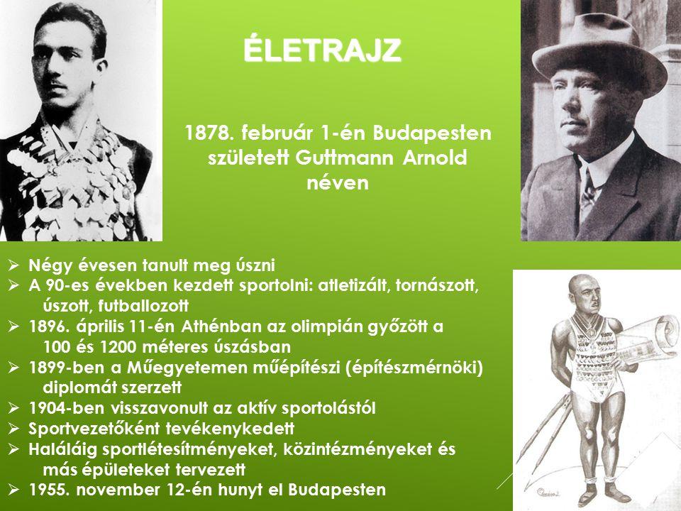 ÉLETRAJZ  Négy évesen tanult meg úszni  A 90-es években kezdett sportolni: atletizált, tornászott, úszott, futballozott  1896. április 11-én Athénb