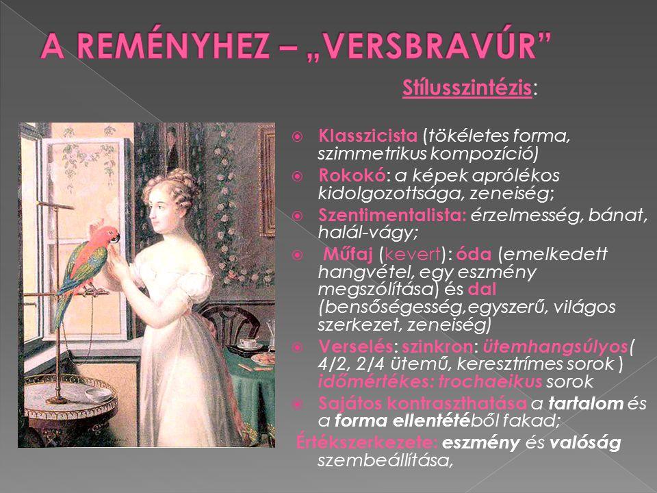 Stílusszintézis :  Klasszicista (tökéletes forma, szimmetrikus kompozíció)  Rokokó : a képek aprólékos kidolgozottsága, zeneiség;  Szentimentalista