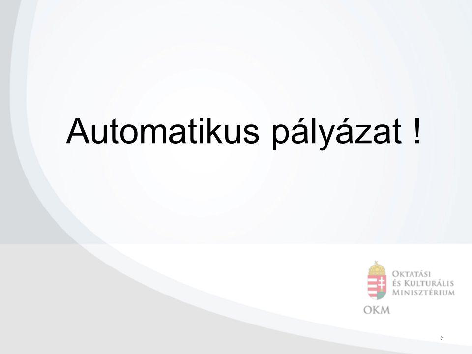 6 Automatikus pályázat !