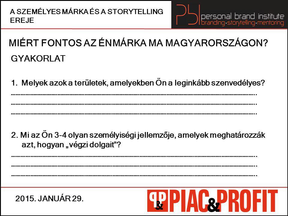 MIÉRT FONTOS AZ ÉNMÁRKA MA MAGYARORSZÁGON.GYAKORLAT 3.