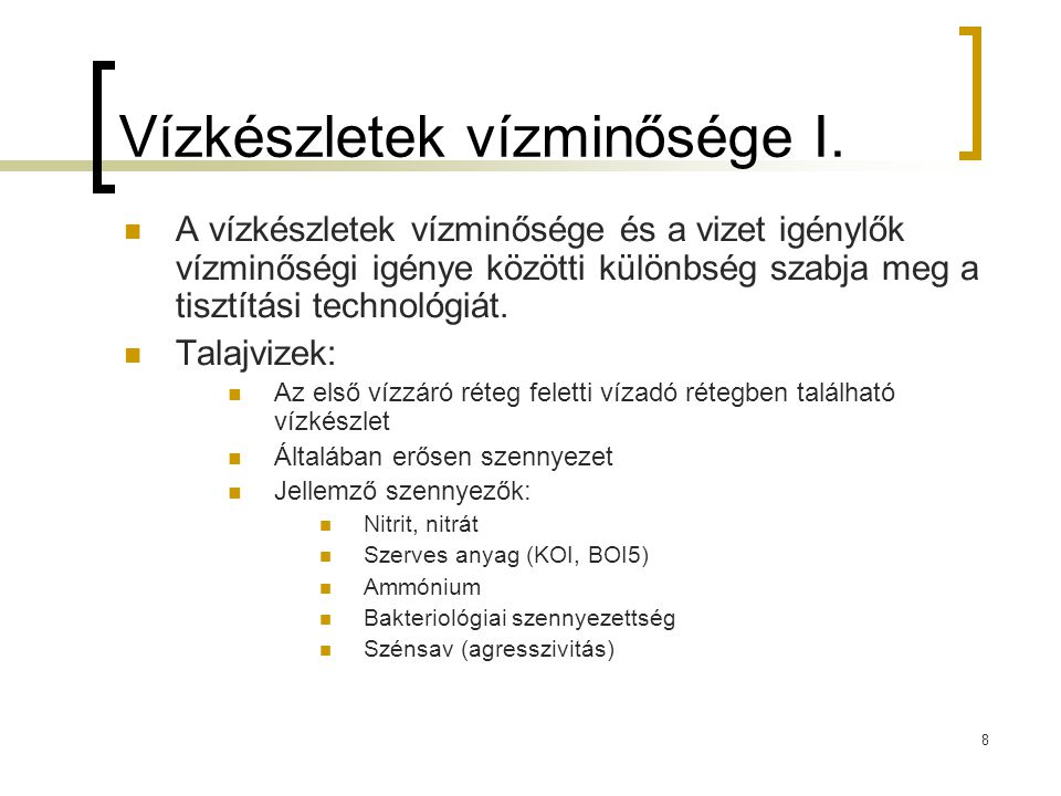 29 Gerebek, rácsok Durva felületi szűrők Ivóvíztisztításban: gereb, szennyvíztisztításban: rács Ivóvíztisztításban felszíni vízkivételeknél alkalmazzák Durva méretű szennyeződések eltávolítására szolgál (pl.