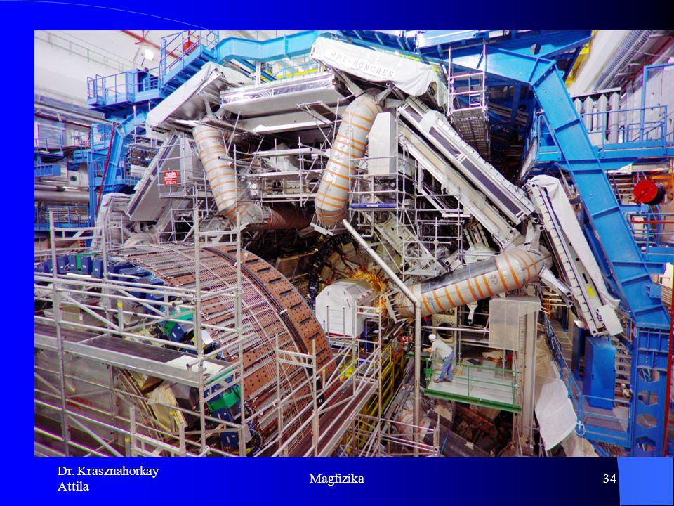 Dr. Krasznahorkay Attila Magfizika33 Ismerjük a sötét anyag tulajdonságait Nem barionikus DM: egyértelmű bizonyítékok a standard modellen túli fizikár