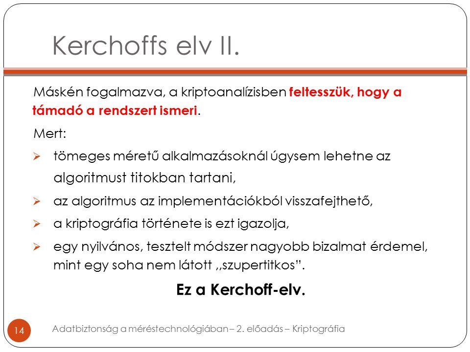 Kerchoffs elv II.