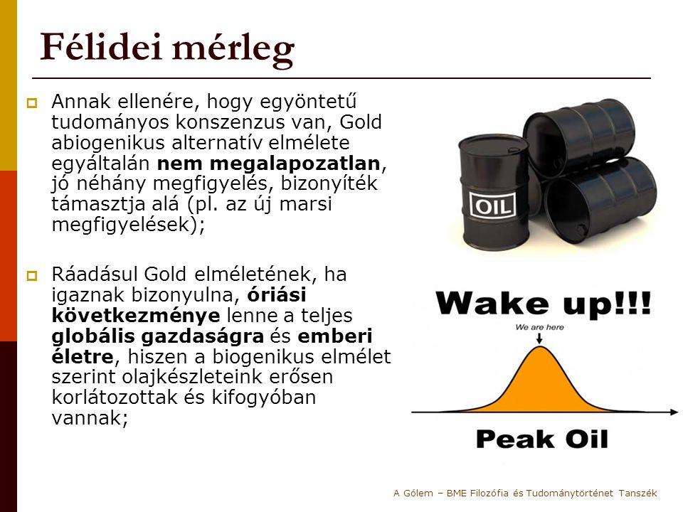 """""""Döntő kísérlet (1.)  1985-ben Gold egy rettentően drága döntő kísérlet javaslatával állt elő, és sikerült rávennie a Svéd Nemzeti Energia Társaságot, hogy olyan helyen kezdjenek el fúrásokat végezni (Siljan-kráter), ahol a biogenikus elmélet szerint NEM LEHET olaj : Vagyis ha találnának olajt… mit jelentene."""