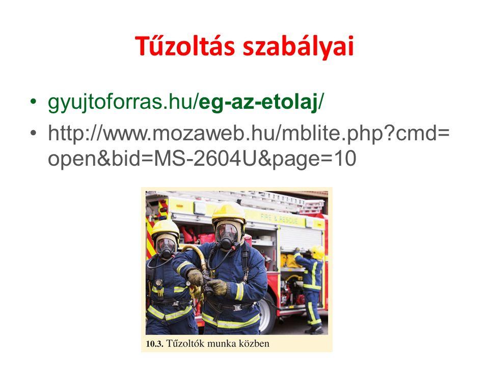 Tűzoltás szabályai gyujtoforras.hu/eg-az-etolaj/ http://www.mozaweb.hu/mblite.php?cmd= open&bid=MS-2604U&page=10