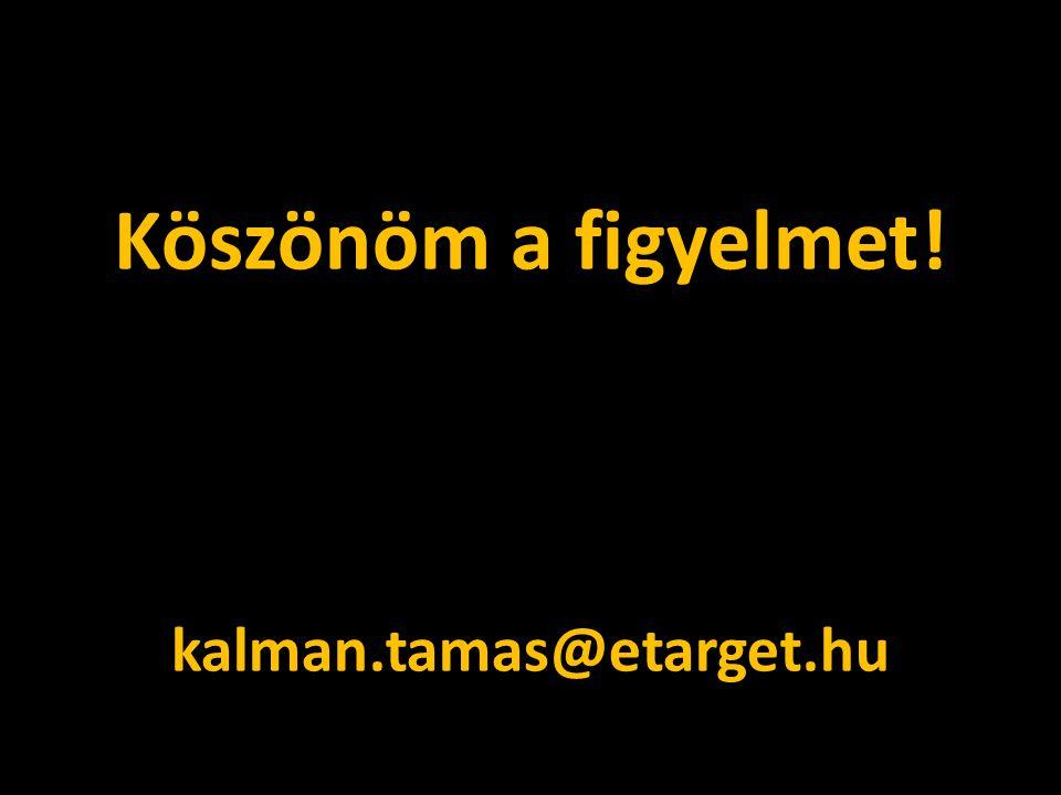 Köszönöm a figyelmet! kalman.tamas@etarget.hu