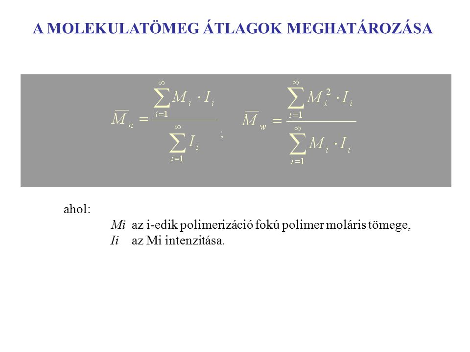 56 Da =-PIB-= + DMDO =-PIB-= 56 Da =-PIB-= =-PIB-O O-PIB-O MALDI: (  I i,O +2  I i,2O )/(2  I i,= +2  I i,2O +  I i,O ) = 0.63 NMR: konverzió = I H,O /(I H,O +I H,= ) = 0.68 telekelikus poliizobutilén reakciója dimetil-dioxiránnal Diolefin telekelikus poliizobutilén reakciója dimetil-dioxiránnal
