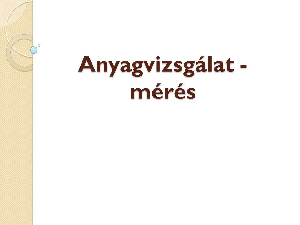 Anyagok csoportosítása Természetes anyag (pl.csuhé, agyag) Átalakított anyag (pl.