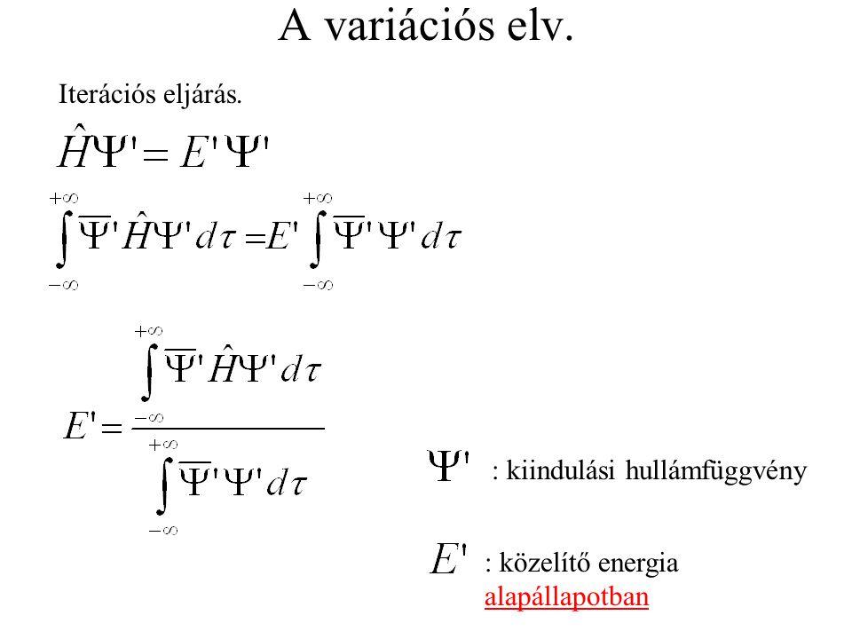 Szervetlen vegyületek Átmeneti fémkomplexek A fématom degenerált d vagy f pályái a ligandumok hatására felhasadnak.