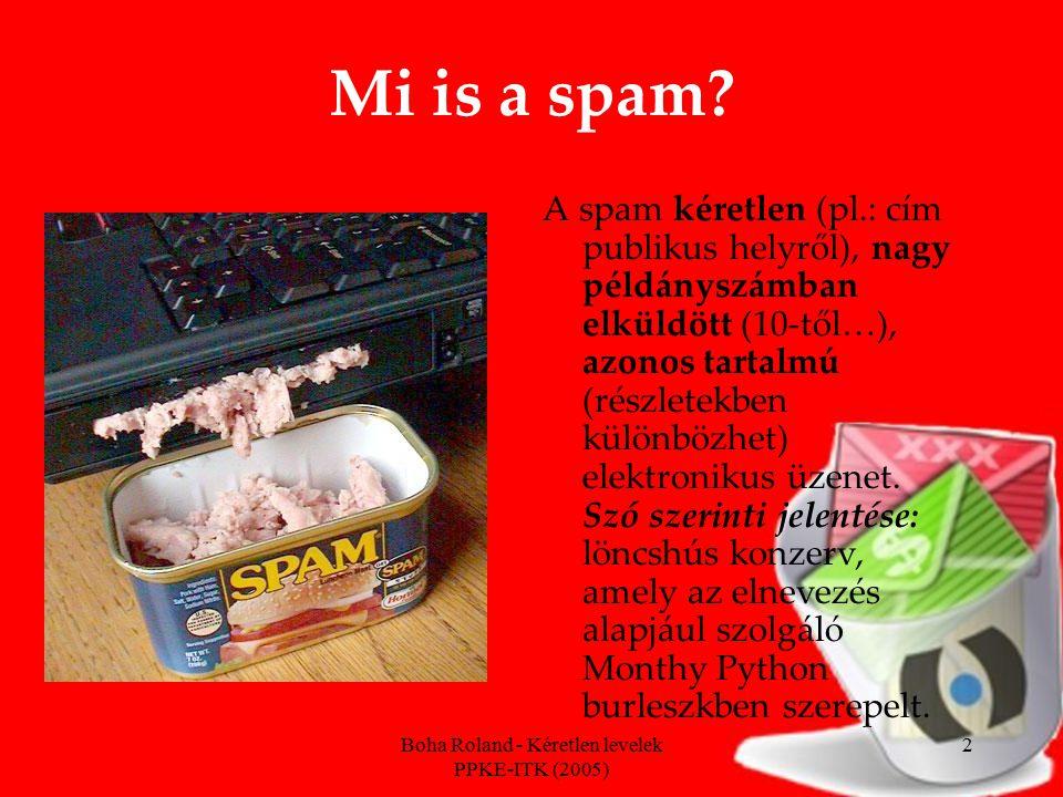 Boha Roland - Kéretlen levelek PPKE-ITK (2005) 2 Mi is a spam.