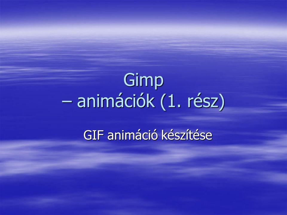 2 GIF animáció létrehozása  Az animáció nem más, mint állóképek sorozata.
