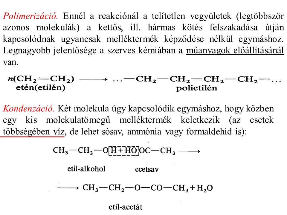 A ketonok csak erélyesebb hatásra (pl.króm(VI)-oxiddal) oxidálhatók.