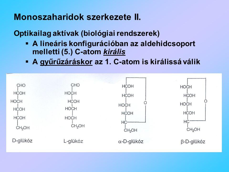 Monoszaharidok szerkezete II.